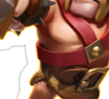 Clash of clans - barbarian king  Sticker