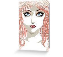 Girl with red hair 5 Greeting Card