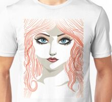 Girl with red hair 5 Unisex T-Shirt