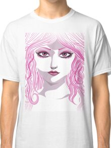 Portrait in pink color Classic T-Shirt