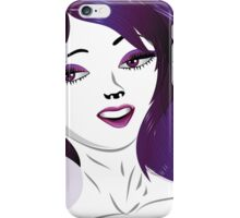 Girl with violet hair iPhone Case/Skin