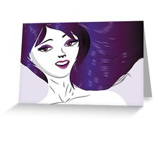 Girl with violet hair Greeting Card