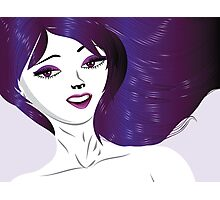 Girl with violet hair Photographic Print