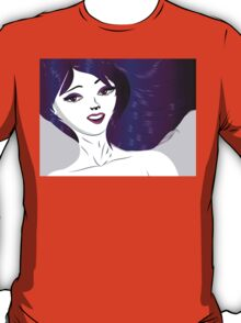 Girl with violet hair T-Shirt
