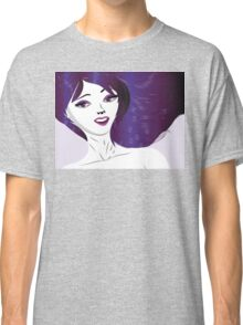 Girl with violet hair Classic T-Shirt