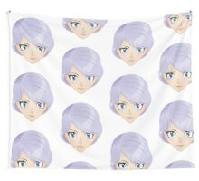 Girl with violet hair 2 Wall Tapestry