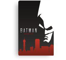 Batman Arkham City Simplistic Canvas Print