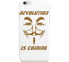 ANONYMOUS T-SHIRT V FOR VENDETTA MASK iPhone Case/Skin