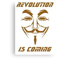 ANONYMOUS T-SHIRT V FOR VENDETTA MASK Canvas Print