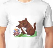 Flower Fairy and Kitten Unisex T-Shirt