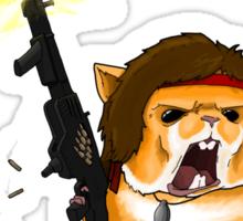 Hamster Rambo Sticker