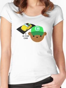 """ABC Bears """"C is for Car"""" Women's Fitted Scoop T-Shirt"""