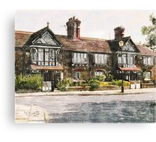 Cottages, Roby Village, UK Canvas Print