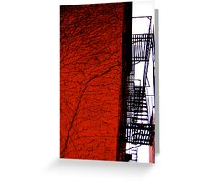 City Veins Greeting Card