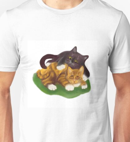 Another Tussle between Two Kittens Unisex T-Shirt
