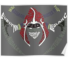 Assassin Calligram - League of Legends Poster