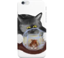 Hamster Ball and Curious Kitten iPhone Case/Skin