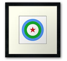 Djibouti Air Force - Roundel Framed Print