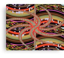 Medusa Pixels Canvas Print