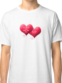 Two Hearts Valentine's Classic T-Shirt