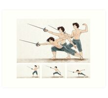 A Study In Fencing Art Print