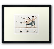 A Study In Fencing Framed Print