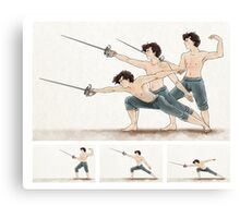 A Study In Fencing Canvas Print