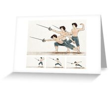 A Study In Fencing Greeting Card