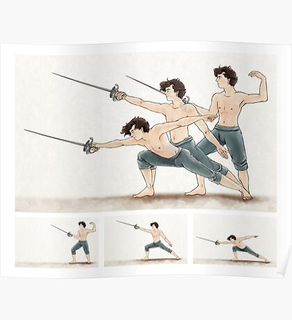 A Study In Fencing Poster