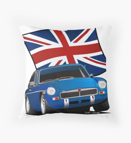 British Sports Car _ MG Throw Pillow