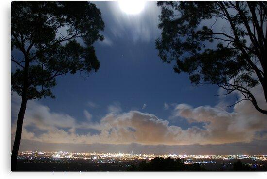 Full Moon at Surfers Paradise Gold Coast © Vicki Ferrari Photography by Vicki Ferrari
