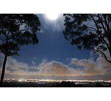 Full Moon at Surfers Paradise Gold Coast © Vicki Ferrari Photography Photographic Print