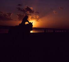 Horseback Sunset by Gavri