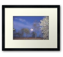 Quilpie at Night © Vicki Ferrari Photography Framed Print