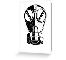 Gas Mask Greeting Card