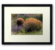 Red Spine Barrel Cactus and Friends Framed Print
