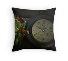 Faded Time Throw Pillow