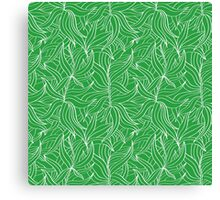 Seamless floral pattern with leaves motive Canvas Print