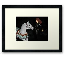 Christmas Horse & Black Widow Framed Print