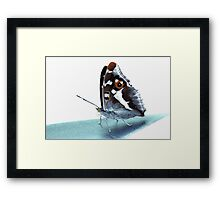 Apatura iris on the runway Framed Print