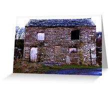 Old Stone Barn Greeting Card