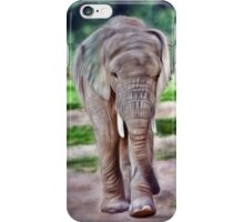 Portrait of a baby elephant, II iPhone Case/Skin