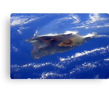 Island of Hawaii From the International Space Station Canvas Print
