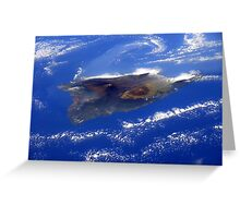 Island of Hawaii From the International Space Station Greeting Card