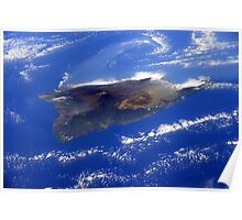 Island of Hawaii From the International Space Station Poster