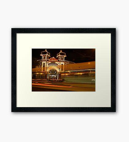 Ghost tram to Luna Park Framed Print