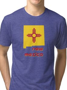 New Mexico state flag Tri-blend T-Shirt