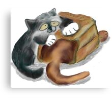 Paper Bag and Two Kittens Canvas Print