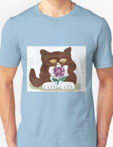 Purple Rose and Kitten T-Shirt