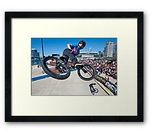 BMX Star Framed Print